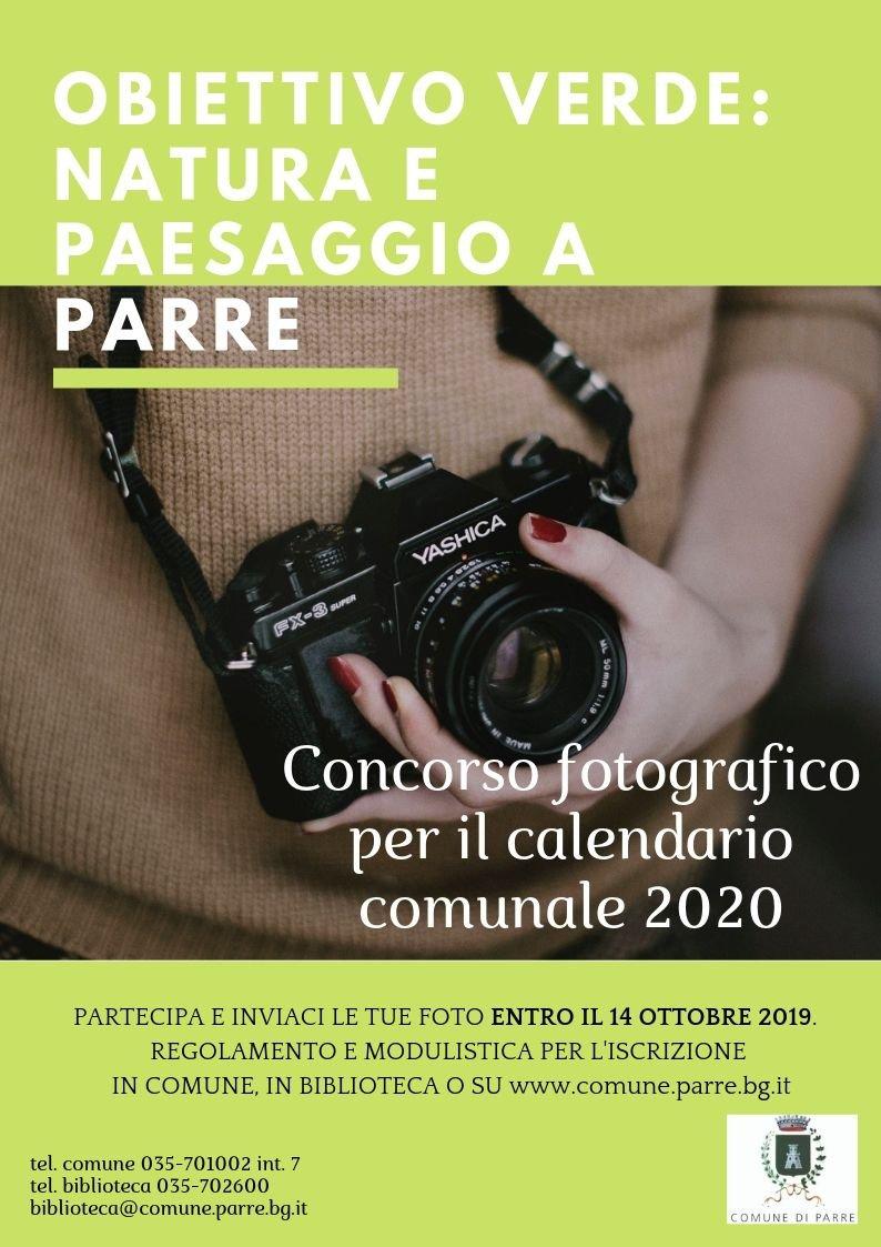 Calendario Fotografico 2020.Concorso Fotografico Per Il Calendario Comunale 2020